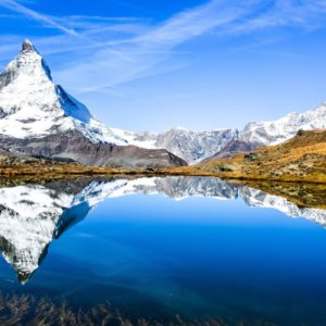 Europe Luxury Switzerland Vacation Mountain Lake Landscape Panorama Matterhorn