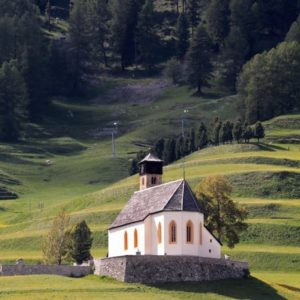 Europe Luxury Switzerland Vacation Mountain Meadow Chapel Alpine Mountains