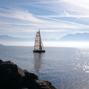 Europe Luxury Switzerland Vacation Sailboat Geneva Lake Landscape View Switzerland