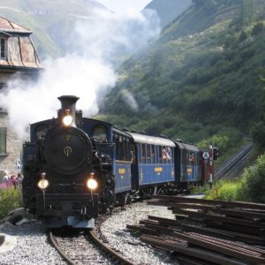 Europe Luxury Switzerland Vacation Steam Railway Furka Switzerland Steam Locomotive