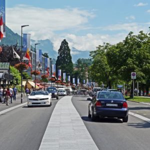Europe Luxury Switzerland Vacation Switzerland Interlaken Main Road Boulevard Center