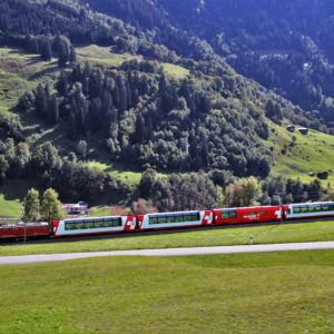 Europe Luxury Switzerland Vacation Train Mountains Railroad Landscape Transport