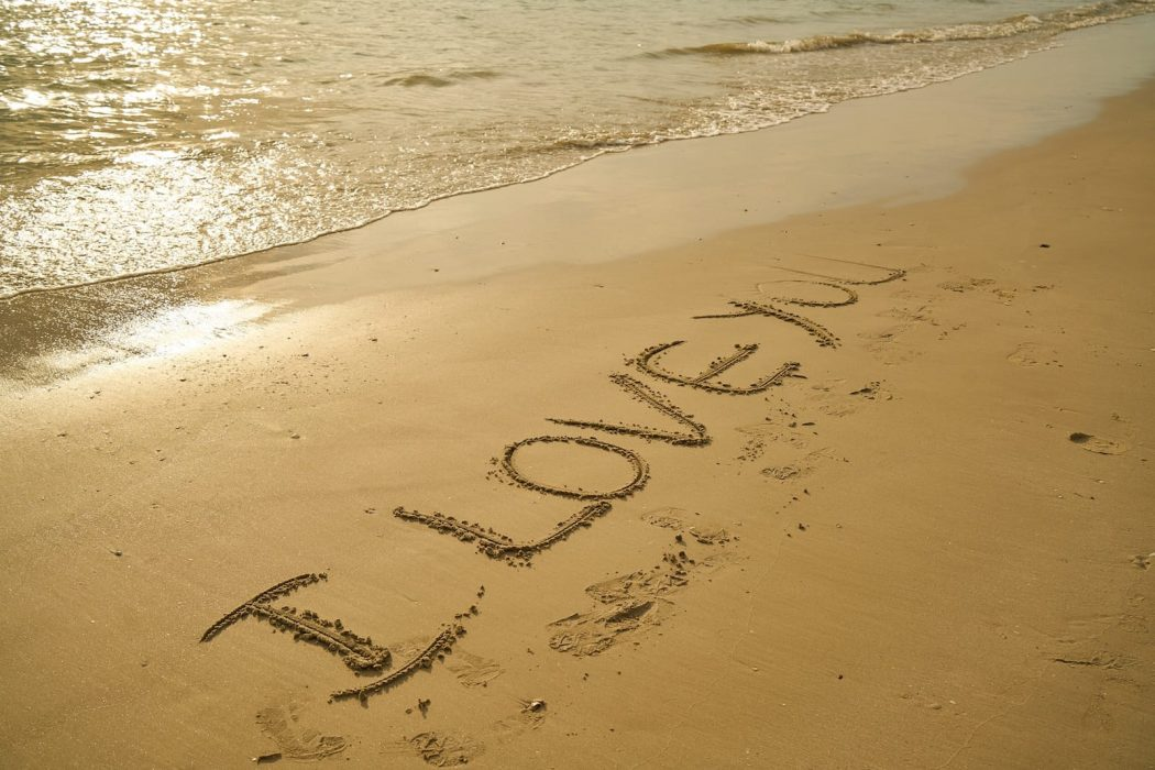 Honeymoon Destination Wedding Beach I Love You Sand Landscape Marine