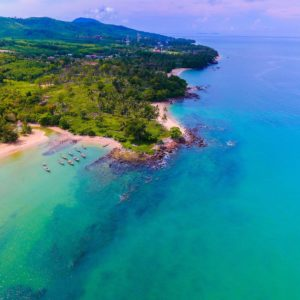 Luxury Thailand Vacation Aerial Photo Of Body Of Water And Island Aerial Shot Bay Beach