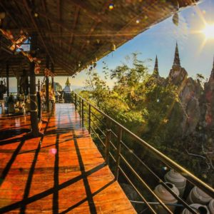 Luxury Thailand Vacation Amazing Ancient Architecture Scenic View From The Temple