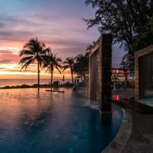 Luxury Thailand Vacation Beach Club Night Time