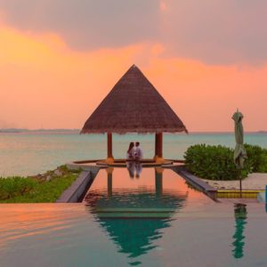 Luxury Thailand Vacation Couple Under Hut Beside Sea And Infinity Pool Affair Asad Asadphoto