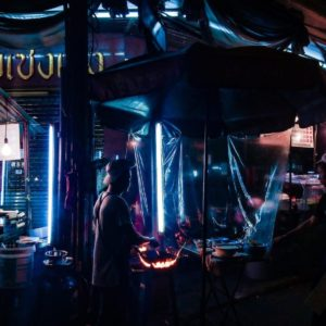 Luxury Thailand Vacation Food Stalls At Night