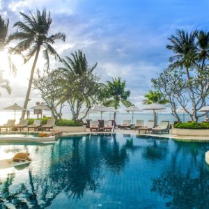 Luxury Thailand Vacation Palm Trees Resort Beach Pool