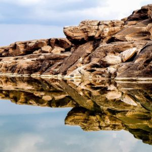 Luxury Thailand Vacation Rock Formation Mirrored By Water