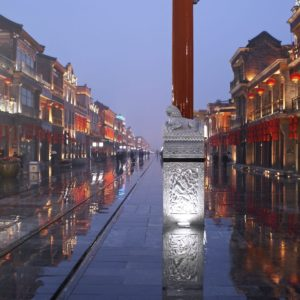 Luxury Vacation China Asia Beijing China Road Rain Wet Reflections Asia