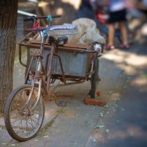 Luxury Vacation China Asia Beijing Hutong Bike Asia China Old Wheel