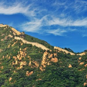 Luxury Vacation China Asia Clouds Daylight Great Wall Of China