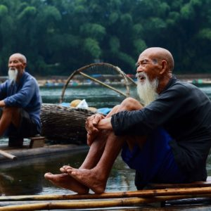Luxury Vacation China Asia Fisherman Nature Guilin River China Guangxi