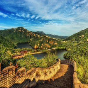Luxury Vacation China Asia Great Wall Of China Architecture Clouds Daylight