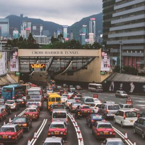 Luxury Vacation China Asia Hong Kong Street View Central Traffic Crowded
