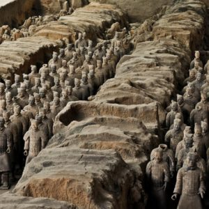 Luxury Vacation China Asia Terracotta Army China Xi An Soldier Statue Buried