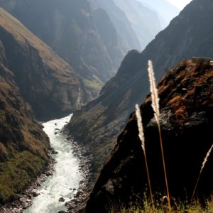 Luxury Vacation China Asia Tiger Leaping Gorge Mountain Sunset Grass