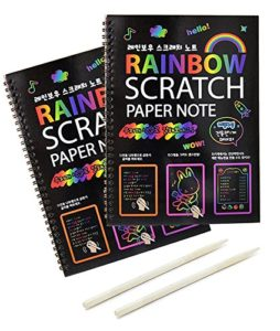 Rainbow Scratch Paper The Traveling Compass Luxury