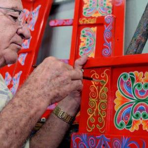 Sarchi Ox Cart Costa Rica Artisian Painter Culture Luxury Vacation