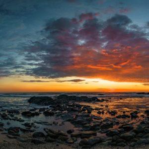 Sunset Tropical Costa Rica Travel Ocean Beach