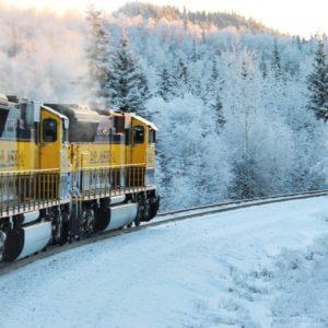 Train Alaska Travel Railway Railroad Winter Alaskan Luxury Vacation