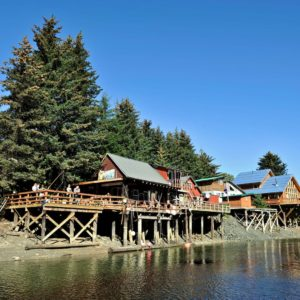 Village Buildings Water Alaskan Luxury Vacation