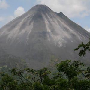Volcano Costa Rica Landscape Mountain Active
