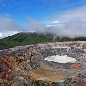 Volcano Poas Costa Rica Crater Mountains