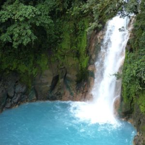 Waterfall Jungle Rainforest Central America